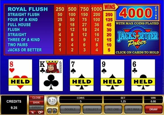 Jacks or Better Video Poker
