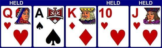 3 карти для роял флеш
